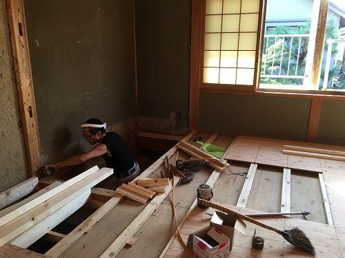 上賀茂住宅のリノベーション工事;